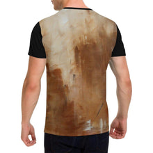Load image into Gallery viewer, Beige Golden Path Black Men's T-Shirt | JSFA - JSFA - Original Art On Fashion by Jenny Simon