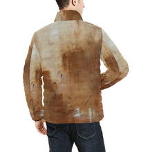 Load image into Gallery viewer, Beige Golden Path Men's Bomber Jacket | JSFA - JSFA - Original Art On Fashion by Jenny Simon
