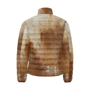 Beige Golden Path Men's Bomber Jacket | JSFA - JSFA - Original Art On Fashion by Jenny Simon