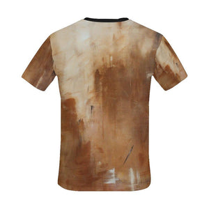 Beige Golden Path Men's T-Shirt | JSFA - JSFA - Original Art On Fashion by Jenny Simon