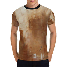 Load image into Gallery viewer, Beige Golden Path Men's T-Shirt | JSFA - JSFA - Original Art On Fashion by Jenny Simon