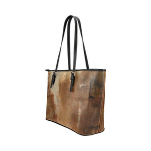 Beige Path Medium Zipper Leather Tote Bag | JSFA - JSFA - Original Art On Fashion by Jenny Simon