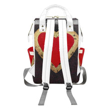 Load image into Gallery viewer, Big Red Heart Multi-Function Backpack | JSFA - JSFA - Original Art On Fashion by Jenny Simon