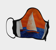 Load image into Gallery viewer, Big Sailboat Face Mask - JSFA - Original Art On Fashion by Jenny Simon