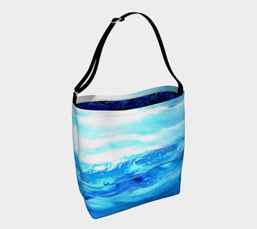 Blue And White Skies Shopper | JSFA - JSFA - Original Art On Fashion by Jenny Simon
