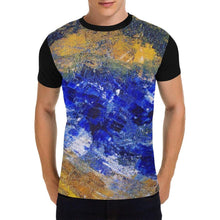 Load image into Gallery viewer, Blue Beaches Black Men's T-Shirt | JSFA - JSFA - Original Art On Fashion by Jenny Simon