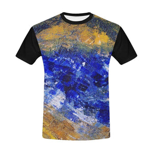 Blue Beaches Black Men's T-Shirt | JSFA - JSFA - Original Art On Fashion by Jenny Simon