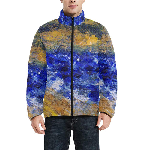 Blue Beaches Men's Bomber Jacket | JSFA - JSFA - Original Art On Fashion by Jenny Simon
