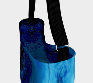Blue Dark Ocean Wave Shopper | JSFA - JSFA - Original Art On Fashion by Jenny Simon