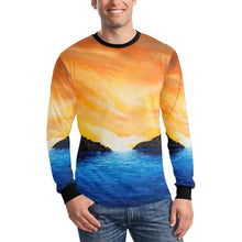 Load image into Gallery viewer, Blue Dream Cove Long Sleeve Men's T-shirt | JSFA - JSFA - Original Art On Fashion by Jenny Simon