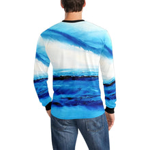 Load image into Gallery viewer, Blue Ocean Spellbound Long Sleeve Men's T-shirt | JSFA - JSFA - Original Art On Fashion by Jenny Simon