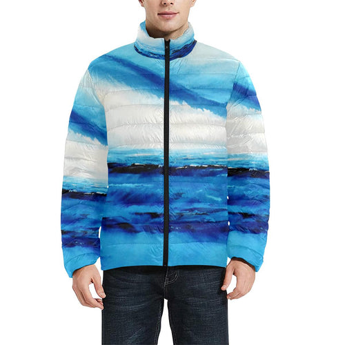 Blue Ocean Spellbound Men's Bomber Jacket | JSFA - JSFA - Original Art On Fashion by Jenny Simon