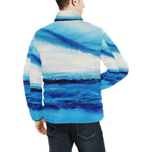 Load image into Gallery viewer, Blue Ocean Spellbound Men's Bomber Jacket | JSFA - JSFA - Original Art On Fashion by Jenny Simon