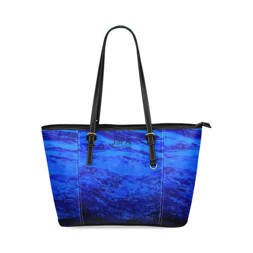 Blue Secret Leather Tote Bag | JSFA - JSFA - Original Art On Fashion by Jenny Simon