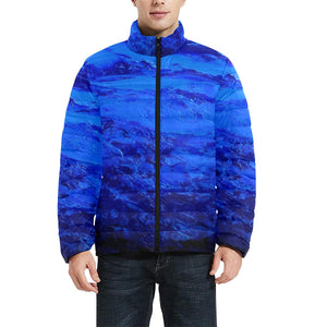 Blue Secret Men's Bomber Jacket | JSFA - JSFA - Original Art On Fashion by Jenny Simon