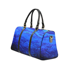 Load image into Gallery viewer, Blue Secret Water Travel Bag | JSFA - JSFA - Original Art On Fashion by Jenny Simon