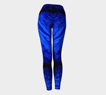 Load image into Gallery viewer, Blue Secret Yoga Pants | JSFA - JSFA - Original Art On Fashion by Jenny Simon