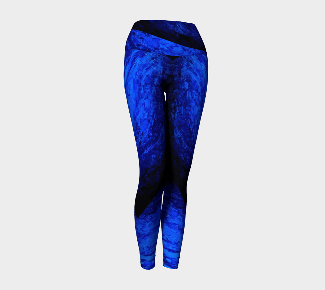Blue Secret Yoga Pants | JSFA - JSFA - Original Art On Fashion by Jenny Simon