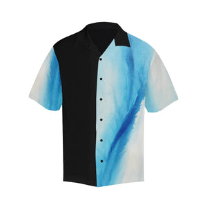 Blue White Spleebound Black Side Hawaiian Shirt | JSFA - JSFA - Original Art On Fashion by Jenny Simon