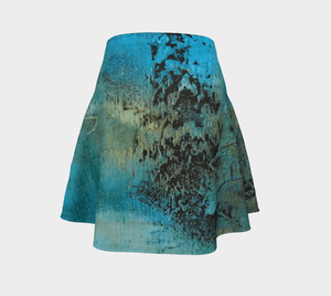 Coral Flare Skirt | JSFA - JSFA - Original Art On Fashion by Jenny Simon