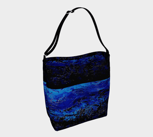 Dark Blue Ocean Shopper | JSFA - JSFA - Original Art On Fashion by Jenny Simon