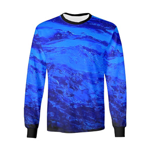 Dark Blue Secret Long Sleeve Men's T-shirt | JSFA - JSFA - Original Art On Fashion by Jenny Simon