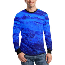 Load image into Gallery viewer, Dark Blue Secret Long Sleeve Men's T-shirt | JSFA - JSFA - Original Art On Fashion by Jenny Simon