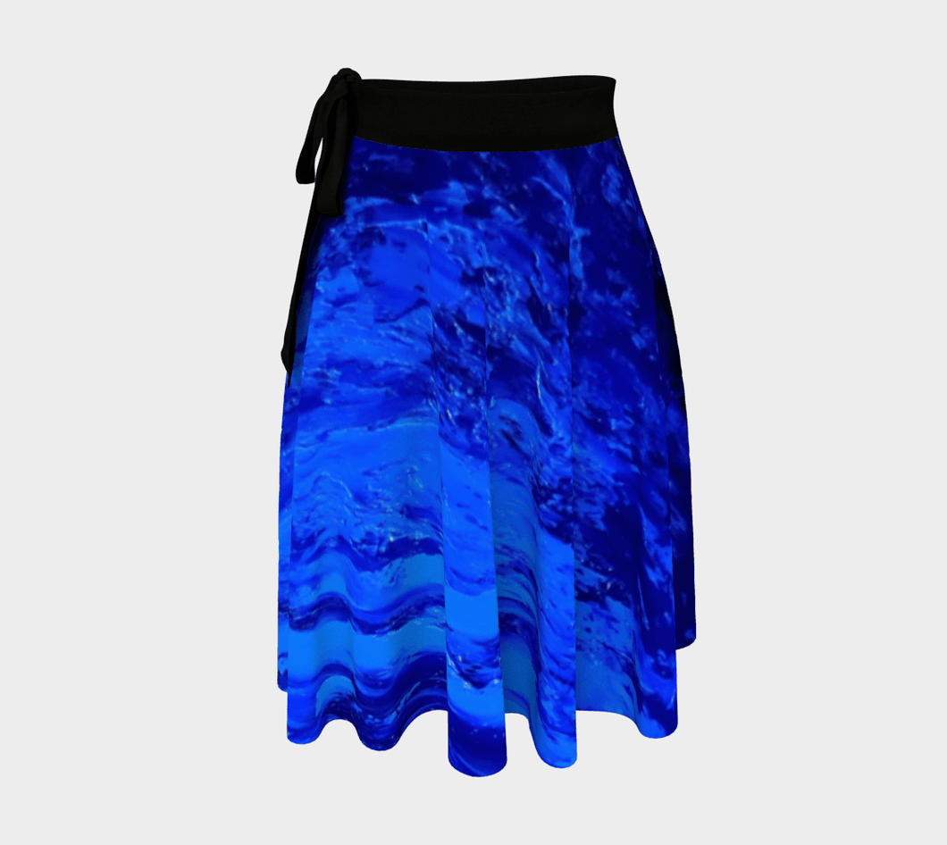 Deep Blue Secret Wrap Skirt | JSFA - JSFA - Original Art On Fashion by Jenny Simon