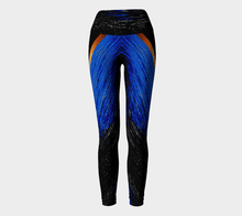 Load image into Gallery viewer, Deep Water Yoga Pants | JSFA - JSFA - Original Art On Fashion by Jenny Simon