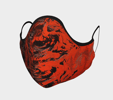 Load image into Gallery viewer, Fire Face Mask - JSFA - Original Art On Fashion by Jenny Simon