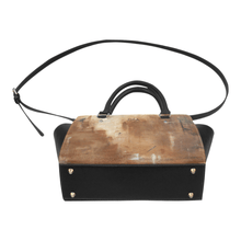 Load image into Gallery viewer, Golden Path Beige Classic Handbag Top Handle | JSFA - JSFA - Original Art On Fashion by Jenny Simon