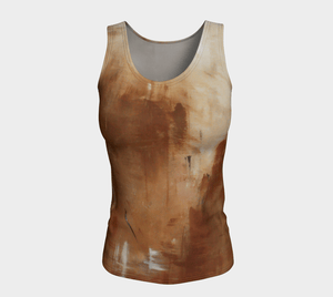 Golden Path Fitted Long Tank | JSFA - JSFA - Original Art On Fashion by Jenny Simon