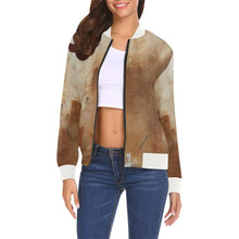 Load image into Gallery viewer, Golden Path Women's Casual Bomber Jacket | JSFA - JSFA - Original Art On Fashion by Jenny Simon