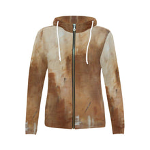 Load image into Gallery viewer, Golden Path Women's Zip Up Hoodie Jacket | JSFA - JSFA - Original Art On Fashion by Jenny Simon