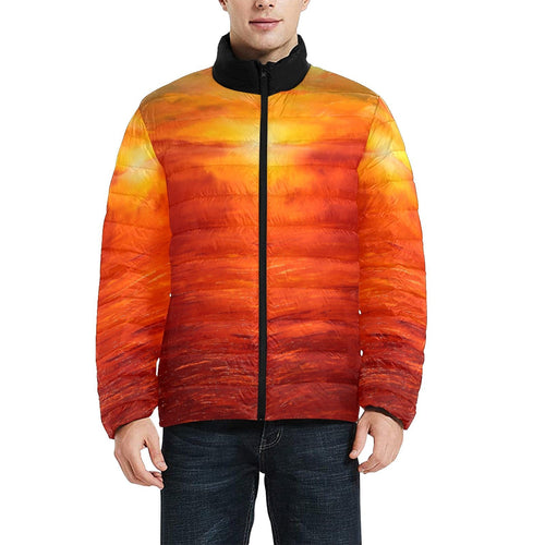 Golden Sunset Men's Bomber Jacket | JSFA - JSFA - Original Art On Fashion by Jenny Simon