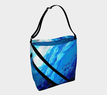 Load image into Gallery viewer, Light Blue Ocean Shopper Black Stripes | JSFA - JSFA - Original Art On Fashion by Jenny Simon