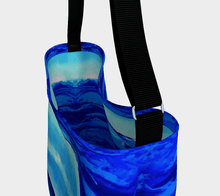 Load image into Gallery viewer, Light Blue Waves Shopper | JSFA - JSFA - Original Art On Fashion by Jenny Simon