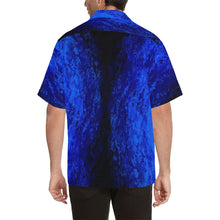 Load image into Gallery viewer, Men's Deep Blue Secret And Black Hawaiian Shirt | JSFA - JSFA - Original Art On Fashion by Jenny Simon