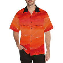 Load image into Gallery viewer, Men's Hawaiian Orange Shirt Men's | JSFA - JSFA - Original Art On Fashion by Jenny Simon