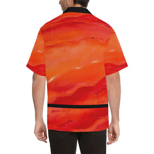 Men's Hawaiian Orange Shirt Men's | JSFA - JSFA - Original Art On Fashion by Jenny Simon