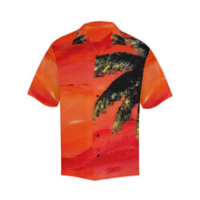 Load image into Gallery viewer, Men's Hawaiian Shirt Orange With Palm Tree | JSFA - JSFA - Original Art On Fashion by Jenny Simon