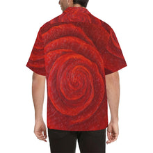 Load image into Gallery viewer, Men's Red Roses Hawaiian Shirt | JSFA - JSFA - Original Art On Fashion by Jenny Simon