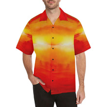 Load image into Gallery viewer, Men's Sunset Magic Orange Yellow Hawaiian Shirt | JSFA - JSFA - Original Art On Fashion by Jenny Simon