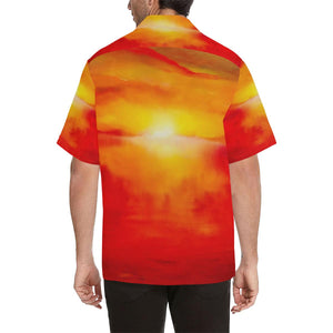 Men's Sunset Magic Orange Yellow Hawaiian Shirt | JSFA - JSFA - Original Art On Fashion by Jenny Simon