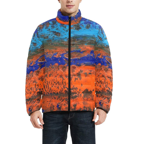Orange Blue Zest Men's Bomber Jacket | JSFA - JSFA - Original Art On Fashion by Jenny Simon