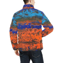 Load image into Gallery viewer, Orange Blue Zest Men's Bomber Jacket | JSFA - JSFA - Original Art On Fashion by Jenny Simon