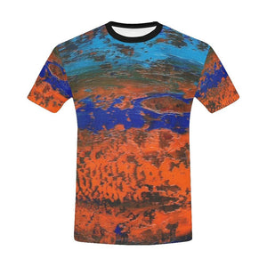 Orange Blue Zest Men's T-Shirt | JSFA - JSFA - Original Art On Fashion by Jenny Simon