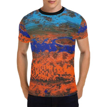 Load image into Gallery viewer, Orange Blue Zest Men's T-Shirt | JSFA - JSFA - Original Art On Fashion by Jenny Simon