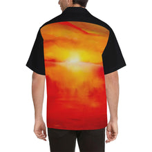 Load image into Gallery viewer, Orange Sunset Magic Black Sleeve Hawaiian Shirt | JSFA - JSFA - Original Art On Fashion by Jenny Simon