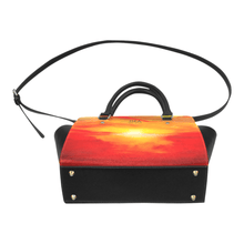 Load image into Gallery viewer, Orange Sunset Magic Classic Handbag Top Handle | JSFA - JSFA - Original Art On Fashion by Jenny Simon